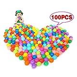 Hrph Multilocolre Boules Océan Plastique Boules Colorées de Piscine pour Bébés Enfants Animaux Diamètre 55mm Jouets Boule (Multicolore-100pcs)