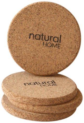 Natural Home Decor Set 4Stück Kork Untersetzer, 2-Pack