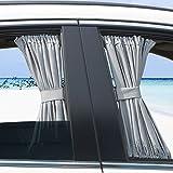 Dayiss® Allgemeinen Auto Vorhang Auto Sonnenschutzrollos Sonnenschutz Webart Auto-Mesh-Fenster Sonnenschutzvorhang (70L+grau )