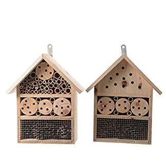 Decoris Large Outdoor Wooden Insect House Bug Hotel Garden Insect Butterfly Home Decoris Large Outdoor Wooden Insect House Bug Hotel Garden Insect Butterfly Home 51i zMbqF1L