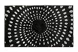 Schöner Wohnen Kollektion Mauritius, Badteppich, Badematte, Badvorleger, Design Kreise - Anthrazit, Oeko-Tex 100 Zertifiziert, 60 x 100 cm