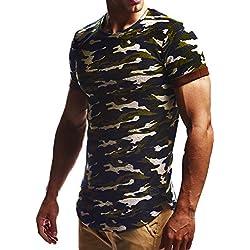 LEIF NELSON Camiseta para hombre de talla grande, sudadera con capucha, LN6324 camuflaje small