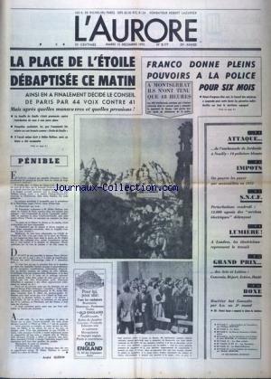AURORE (L') [No 8177] du 15/12/1970