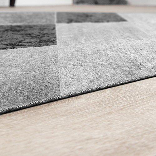 Rug Good Value Check Design Modern Living Room Rug Grey Black Top Price