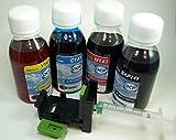 302 Kit DE Recarga DE Tinta para Cartuchos HP Modelos Nº: 302-65-63-304-123-803, Negro y Tricolor