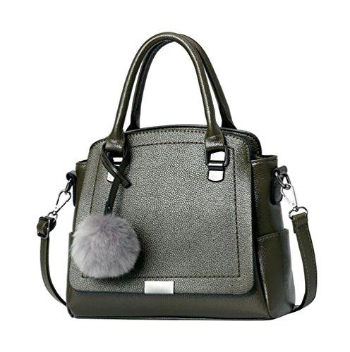 WanYang Donna Borsa Handbag A Spalla Righe In PU Cuoio Moda Borse Donna Multi-Colore Style Tote Bag Borsa A Tracolla Verde