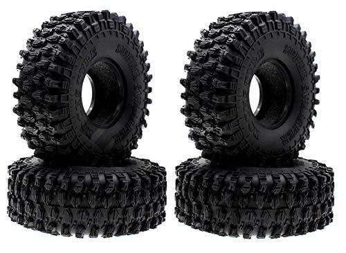 ARUNDEL SERVICES EU T3. 4 x 120 mm Rock Crawler Pneumatici Pneumatici Pneumatico 1.9 Pollici per 1/10 RC Fuoristrada RC4WD D90 D110 AXIAL SCX10 TRX4 Ruote Bruco