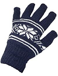 Herren Strick Handschuhe Norweger Muster Winter