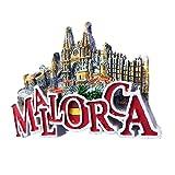 Cathedral de Mallorca España Europa Ciudad del Mundo resina 3d fuerte imán para nevera recuerdo turista regalo chino imán hecho a mano creativo hogar y cocina decoración magnética