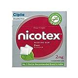 Cipla Nicotex Nicotine Gum - 2 mg (9x10 ...
