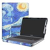 Alapmk Specialmente Progettato PU Custodia Protettiva in Pelle Per 11.6' ASUS VivoBook E203NA E200HA L200HA/Chromebook C201 C201PA Series Notebook,Starry Night