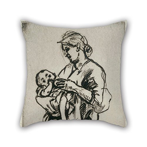slimmingpiggy-18-x-18-inches-45-by-45-cm-oil-painting-jerome-myers-mother-and-child-cushion-covers-e