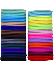 eBoot 69 Pièces 3mm Multicolor Élastiques Bande de Cheveux Aucun Métal Élastiques Doux