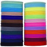 eBoot Multicolor Elástico Pelo Gomas sin Metal Suave Elástico, 69 Piezas, 3mm