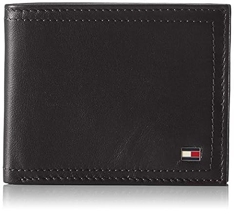 Tommy Hilfiger Harry Mini Cc Wallet, Porte-cartes d'identité (Card Cases) homme, Blau (Black), 1.5x8.5x10.7 cm (B x H T)