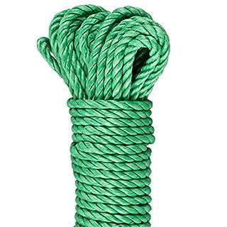 GardenMate® PP-Outdoor Seil 30 m lang 6mm dick aus 3 Polypropylene Strängen