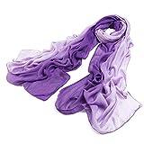 Warm-U - Sciarpa da donna in pura fibra di bambù naturale Dark Purple Taglia unica