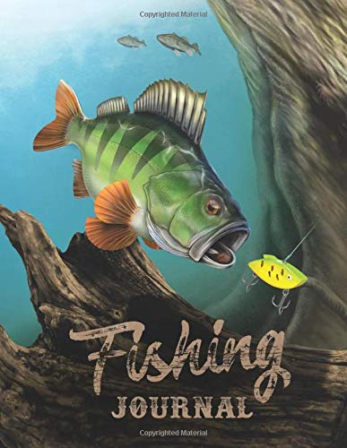 Fishing Journal: Fishing Log • Notebook For Anglers - My Best Lures, Fishing Spots & Fishing Methods - 110 Pages - 8,5