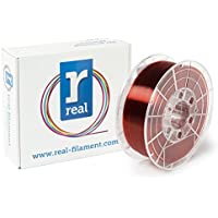 Real Filament 8719128327211 Real PETG, Spool of 1 kg, 1.75 mm, Transparent Red - ukpricecomparsion.eu