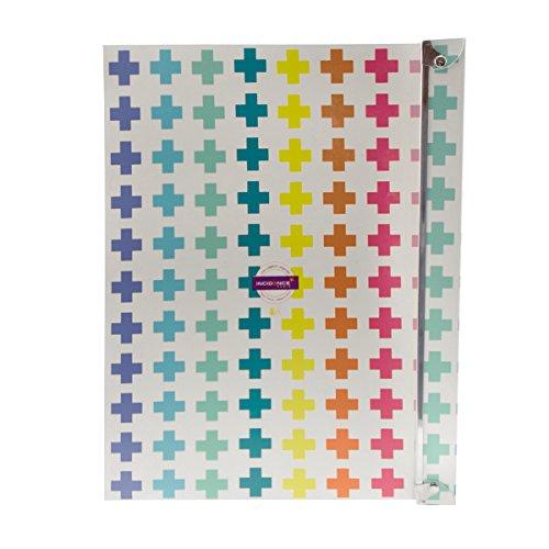 incidence-paris-42318-boite-technicolor-croix-plastique-multicolore-taille-3-345-x-26-x-14-cm