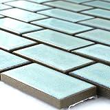 Keramik Mosaik Fliesen Türkis Matt Uni