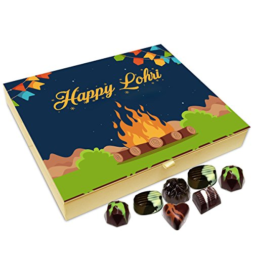 Chocholik Lohri Gift Box - Happy Lohri to All Chocolate Box - 20pc