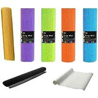 2 x Anti Non Slip Multi Purpose Rubber Liner Carpet Rug Gripper Dish Drawer Car Dashboard Mat (Blue) by BS - Gomma Car Mats