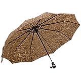 EOZY Parapluie Pliant Ultra Large 2 Personnes Ouverture Fermeture Automatique Anti-UV Anti-Pleuvoir Acier Inoxydable (Léopard)