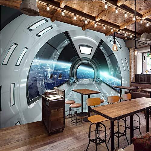 Anpassbare Größe Moderne 3D Universum Raum Wandbild Kapsel Von Einrichtungsdekor Wandbild Kunst Wohnzimmer Tv Hintergrund Seidentuch 250X175 Cm A1 -