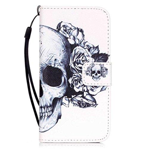 Coloré Motif PU Cuir portefeuille Housse Etui pour iPhone 7 (4,7 pouces) Case Coque Protection Flip Cover avec carte de crédit Slots (Y01#) Y04#