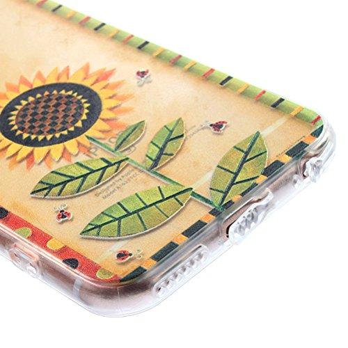 IPhone 6 Plus/6S, Vioela, motivo: fata dei fiori, design a farfalla, colore: trasparente-Con custodia rigida posteriore trasparente, Ultra sottile, in Silicone, per iPhone 6 Plus/6S, 11,94 cm (4,7) c Girasole - Girasole