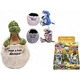 Plüsch Baby Dinosaurier In Ei 3 Verschiedene - Dinosaurier Spielzeug