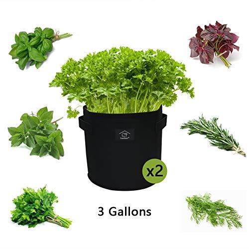 laxllent sacchi per piante, 2pcs 3gallons piantapatate sacchi di tessuto non tessuto, borse di piantatura con patta per coltivare ortaggi,prezzemolo, chiodi di garofano, rosmarino