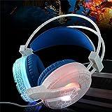 Dailyinshop H6 Cracked Muster Videospiel Headset Super Bass mit Mic LED-Licht für PC für Telefon