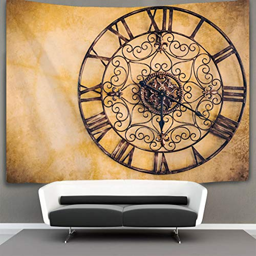 POP MKYTH Tapestry Wall Hanging Old Vintage Clock Filter Wall Tapestry with  Art Nature Home Decorations for Living Room Bedroom Dorm Decor 60\