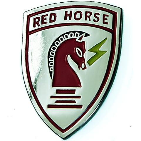 Rojo Caballo Air Force Squadron ingeniero Sombrero o pin de solapa