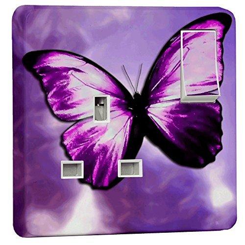 stika. co Wandtattoo violett Schmetterling einfache Ausgang Netzteil für Haut für Schalter Crabtree 430413A Steckdosen