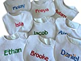 Babero personalizada-cualquier nombre-(no Pegatina)-con bordado