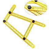 Tefamore Multi-Ángulo Instrumento de medida Constructores Manuales Artesanos herramienta cuatro lados regla mecanismo deslizante y para artesanos