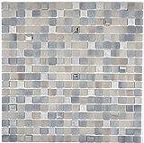 Mosaik Fliese Transluzent Stein grau GRIGIO für WAND BAD WC DUSCHE KÜCHE FLIESENSPIEGEL THEKENVERKLEIDUNG BADEWANNENVERKLEIDUNG Mosaikmatte Mosaikplatte