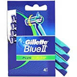 Gillete Blue II Plus-Paquete, cuchillas de afeitar desechables-4 piezas