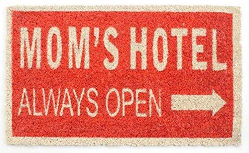 1art1 75978 Fun - Mom's Hotel, Always Open, Retro Style Fußmatte Türmatte 70 x 40 cm