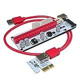 TOOGOO Neueste VER008S 0.6M USB 3.0 Kabel Professionelle Bergbau PCI-E Express PCI-E 1 x bis 16X M2 Riser Karte Adapter fuer 8 GPU Grafikkarten rot