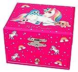 Depesche 8555 - Spieluhrschatulle Ylvi und die Minimoomis mit Einhorn Naya