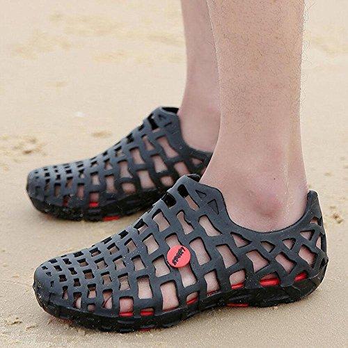 Hommes Slip On Obstrue Les Chaussures En Tissu De Sandales Creuses En éTé 2017 Chaussures AntidéRapantes Pour Plage Couple a
