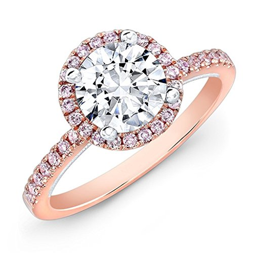 Forever Carat 18 K Gold Rings real Solitaire diamond in gold solitair ring for women