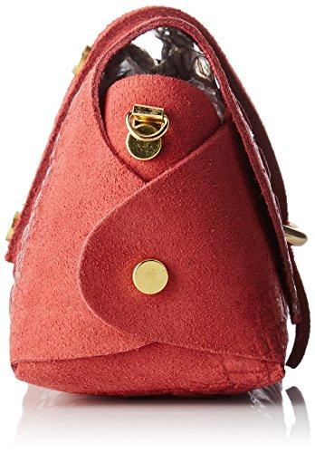 Chicca Borse 10031, Borsa a Spalla Donna, 18x11x8 cm (W x H x L) Rosso
