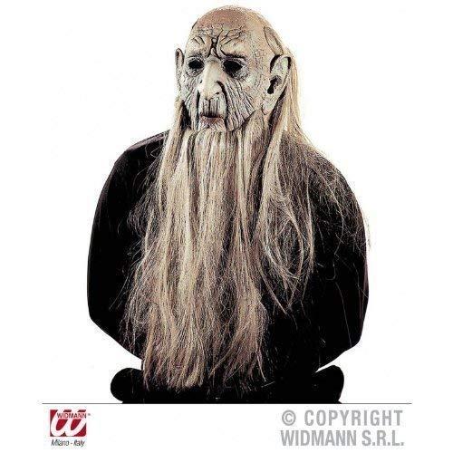 Widmann s.r.l. Latexmaske Alter Mann mit Glatze, Bart, Haaren und großen Ohren