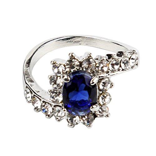 Frauen, die Verlobungsring-Kristallschmucksachen-Größe 5-10 Ringe Wedding sind YunYoud Modeschmuck Ring rtnerringe Gold Grosse fingerringe günstige Ringe