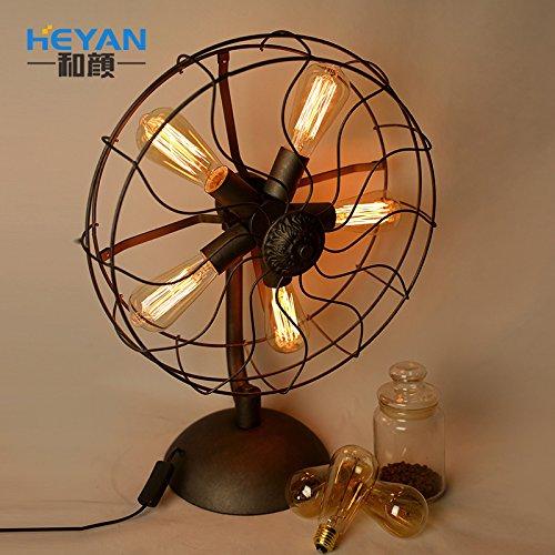 DZXYA Fan americano in stile loft lampade lampade retrò a casa personalità Edison industriali commercio all'ingrosso ,45*62cm lampade in ferro